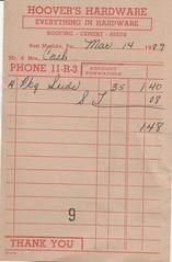 Old Receipt Form (US Rt 40) Tags: pa pennsylvania portmatildapa hoovershardware hardware hardwarestore receipt oldreceipt old 1979 form oldreceiptform receiptform
