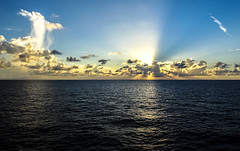 sunset at sea (-gregg-) Tags: cruise sunset ocean clouds sky