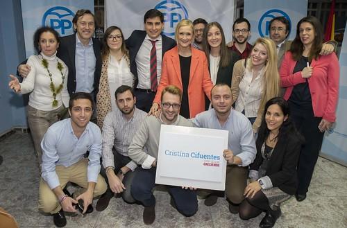 Encuentro con afiliados y simpatizantes en Arganzuela. 6 de marzo de 2017 - Campaña a la presidencia del PP de Madrid
