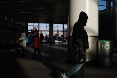 Whitehall Terminal (dtanist) Tags: nyc newyork newyorkcity new york city sony a7 konica hexanon 40mm manhattan whitehall staten island ferry terminal siferry sunlight silhouette