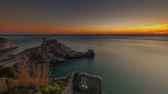 The magic wind of Portovenere (Enrico Cusinatti) Tags: acqua clouds cielo cloud enricocusinatti italy italia liguria longexposure lungaesposizione mare nuvole orizzonte sea sky sunset travel tramonto thechurch viaggi vacanze vacation long exposure portovenere golfodeipoeti window