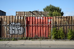 Fence (martyr_67) Tags: fence container northcote separation road melbourne