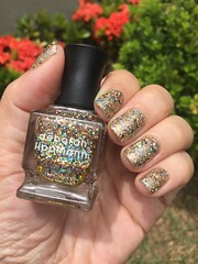 Deborah Lippmann - Glitter and Be Gay (Jane Iris) Tags: unhas esmalte glitter dourado azul gold blue