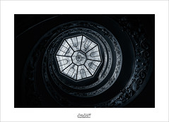 the spiral (Zino2009 (bob van den berg)) Tags: stairs spiral rom rome vatican grey silver light roof glass up down walk tour depth hypnotising turning dizzy theeye old holy museum centre italy holiday empire power christ mediaval pope home zino2009