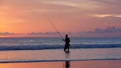 _MG_1715 (treilmann) Tags: beach fisherman seminyak sunset bali fishing