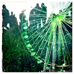 Isle of Wight Festival 2013 Hipstamatic Multiple Exposure (s0ulsurfing) Tags: cameraphone party green june mobile photoshop camphone island overlay ps multipleexposure celebration improvisation isleofwight colourful bigwheel isle wight lores iphone improvise 2013 s0ulsurfing jasonswain hipstamatic isleofwightfestival2013