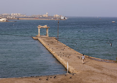 Jetty At The Old Palace Of Haile Selassie, Massawa, Eritrea (Eric Lafforgue) Tags: africa sea people color colour men abandoned horizontal outdoors photography gate day adult redsea entrance adultsonly bombed oneperson onepeople massawa eritrea hornofafrica coastaltown eastafrica haileselassie realpeople batsi eritreo ottomanempire erytrea eritreia colourimage 1people italiancolony  massaoua ertra    eritre eritreja eritria  rythre africaorientaleitaliana     eritre eritrja  eritreya  erythraa erytreja     colonialitalianarchitecture italiancolonialempire ert6805