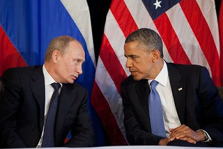 Vladimir Putin and Barack Obama (Photo credit: poniblog)