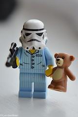 Step away from the Teddy (LynG67) Tags: nikon gun lego teddy stormtrooper minifigs pyjamas minifigures d5100