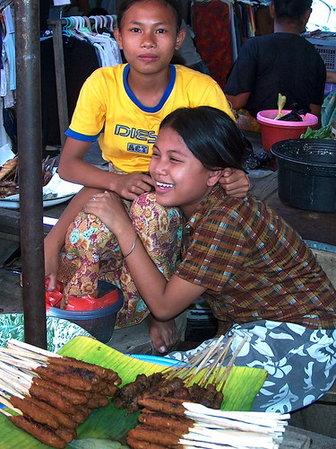 Indonesia - Lombok - Young Girls At Market