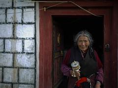 P1030104 (Nicolas Collignon) Tags: travel portrait wheel lumix prayer tibet pancake 20mm litang gf1
