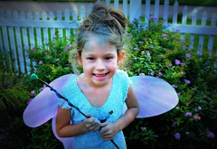 A LITTLE FAIRY DUST (marsha*morningstar) Tags: girl smile female wings child feminine wand fairy dust picketfence