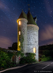 Trelissick Water Tower ([J Z A] Photography) Tags: longexposure tower fairytale cornwall gothic watertower victorian le lighttrails nationaltrust truro feock jzaphotography fujixe1 xf14mm terlissick