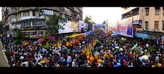 a wider angle! :) (k.u.s.h.) Tags: street panorama india photography angle wide mumbai ganpati mws dadar kushmehta fujifilmhs25exr kushmehtaphotography