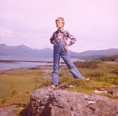 That's ma boy. 2 (Ishbelle 31) Tags: blue trees boy sea sky mountains green grass rock forest scotland highlands scottish mull