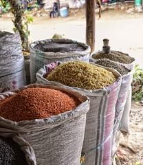 Pasta and Beans, Ethiopia (Rod Waddington) Tags: africa food beans market stall pasta bags ethiopia ethiopian tigray adigrat