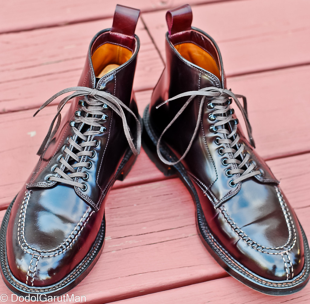 b04dc49bae SOLD - Alden X Context Tanker NST Boots in Color 8 (Burgundy) Shell Cordovan