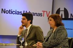 Grabación de Noticias urbanas Tv,  Conucen Jorge Garcia y Norman Rozenthal