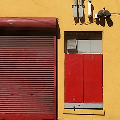 shutteRED (msdonnalee) Tags: door red rot wall rouge rojo explore shutters rosso