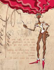 AFROWILD (planeta urazan) Tags: afro blackgirl afrogirl sabrosura afrocolombiana chicanegra blackmagicvoman urazanplanet blackgirlillustration