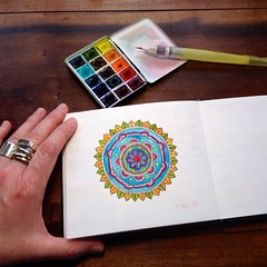 Mandala (MagaMerlina) Tags: ink watercolor mandala winsorandnewton dalerrowney bijoubox uploaded:by=flickrmobile flickriosapp:filter=nofilter