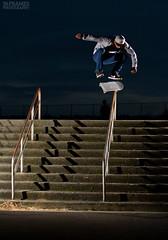 Nile - kickflip (36 Frames Photography) Tags: seattle canon washington skateboarding tail 206 sigma rail slide 7d skateboard wa grind kickflip feeble strobist 36framesphotography