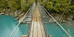 Suspended in Blue (rubberducky_me) Tags: bridge blue newzealand river southisland gorge westcoast suspensionbridge