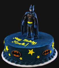 Batman Cake (butterflybakeshop) Tags: nyc newyork cake logo 3d bakery superhero batman fondant customcake butterflybakeshop