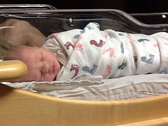 "Asleep in His Hospital Bassinet • <a style=""font-size:0.8em;"" href=""http://www.flickr.com/photos/109120354@N07/10953293845/"" target=""_blank"">View on Flickr</a>"