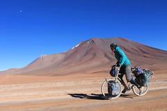 Pedalling past Volcan Juriques
