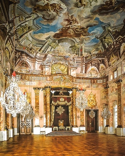 Great (Knight's) Hall at Ludwigsburg Schloss (Palace) Germany