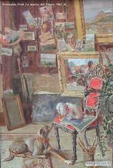 Romualdo Prati La stanza del Pittore 1902 di