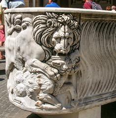 Lion devouring a lamb (Tiigra) Tags: 2007 italy rome vatican animal carving hairdo interior lion ornament otheranml sculpture lazio art pattern