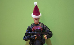 Punishment Claws (Brundlefly85) Tags: santa christmas winter holiday anime animals actionfigure drums action manga pic xmen merry marvel jackman claws punisher amature