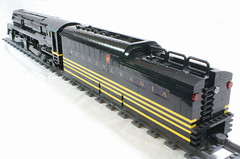 PRR5544_mkii_08 (SavaTheAggie) Tags: railroad train lego pennsylvania engine trains steam creation duplex locomotive streamlined snot own rebuild t1 reconstruction streamline prr streamliner moc 4444 my