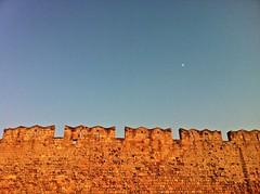 Castrum (S. Hemiolia) Tags: sky moon wall bricks luna greece grecia cielo mura rhodes rodi castrum