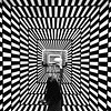 Illusion Ball (Jason Farrar) Tags: family blackandwhite bw usa girl basketball kids fun newjersey child unitedstates nj illusion squareformat iphone illusionroom artinbw goldenart iphoneography