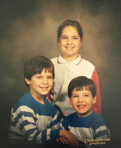 Jonathan, Kelli, and Caleb Copeland, children of Brian and Roxanne Copeland, grandchildren of William Delvie Copeland, circa 1990.
