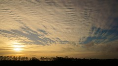 Small Clouds (Hindrik S) Tags: color clouds cloud sky sun sunset zonsondergang winter panorama 11000 f8 iso100 30mm skyline horizon trees red wolken wolk tamron tamronspaf1750mmf28xrdiiildasphericalif tamron1750 1750 sony sonyalpha α57 a57 slta57 slt cpf colorful ribbelwolk sonyphotographing amount