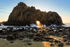 Light and Stuff (boingyman.) Tags: ocean light sun seascape beach landscape coast rocks arch bigsur beam scape pfeiffer boingyman