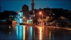 ... (tirjayanto) Tags: longexposure light night river indonesia flood mosque jakarta hdr masjid malam sungai lampu banjir ciliwung ef70200mmf28lusm nightfoto kampungmelayu eastjakarta sungaiciliwung ciliwungriver