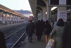 San Francisco - Southern Pacific - 1975 (tonopah06) Tags: sanfrancisco california ca station train engine sp commute 1975 depot commuter service kodachrome peninsula downtownsanfrancisco southernpacific 3208 peninsulacommute sp3208