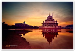 Putra Mosque - Long Exposure (Vin PSK) Tags: longexposure sunrise landscape dawn mosque malaysia putrajaya putra