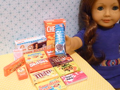 Snacks and Candies 1:3 scale (minniekitchen) Tags: junk candy chocolate snack bjd oreo raisin americangirl cheezit 18inch battat agdoll 13scale ourgeneration