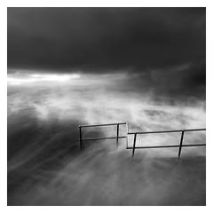 The Surge (picturedevon.co.uk) Tags: uk longexposure bw seascape storm abstract southwest beach monochrome blackwhite waves darkness unitedkingdom fineart coastal devon le squareformat crashing westcountry teignmouth canoneos5dmk2 wwwpicturedevoncouk takenbydavidhixon