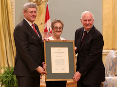 At Rideau Hall today presenting Renée Jolicoeur with the 2013 Outstanding Achievement Award
