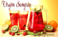 Virgin Sangria Recipe (Thinkarete) Tags: red party summer orange cold green glass fruits up yellow fruit bar table relax glasses wooden leaf lemon mixed strawberry berry soft berries close wine drink juice background beverage peach mint fresh lemonade cocktail homemade alcohol jar jug citrus punch alcoholic kiwi pitcher refreshing liquid sangria slices refreshment mulled refresh
