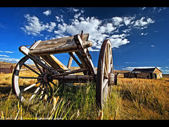 Abandoned Wagon  Bodie State Historic Park, Bridgeport, CA (Sam Antonio Photography) Tags: poverty california park wood old travel wild sky usa west building history abando