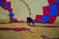 Inside the balloon (kasia-aus) Tags: morning view air balloon australia canberra filling balloonflight inflating