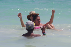 Jordan, Rosa, and John (rosaandjohnmalone) Tags: ocean family sea playing beach wet water swimming swim john mexico fun play maya rosa palace resort enjoy cancun caribbean malone barcelo